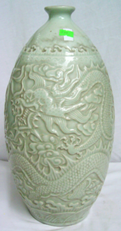 Vase with Incised Dragon - Chinese Porcelain and Stoneware