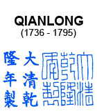 Qianlong Mark on Qing Dynasty Chinese Blue and White Porcelain