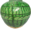 Green Vase with Incised Designs - Tang Dynasty Chinese Ceramics