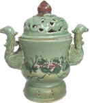 Incense Burner with Phoenix Handles - Tang Dynasty Chinese Ceramics