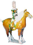 Decorative Horse with Rider - Tang Dynasty Chinese Ceramics