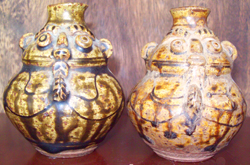 Smal Brown Owl Vases  - Tang Dynasty Chinese Ceramics