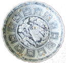 Phoenix Plate with Sea Encrustations - Underglaze Black Ceramics
