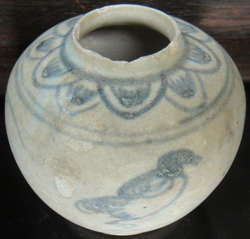 Anamese Jarlet from Shipwreck - Underglaze Black Chinese Ceramics