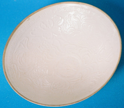 Ding Bowl with Floral Design- Chinese Porcelain and Stoneware