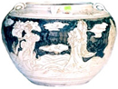 Cizhou Vase with Sages & Girls - Whiteware Porcelain & Stoneware