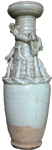 Funeary Urn with Dragon - Whiteware Porcelain & Stoneware