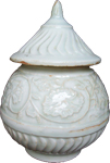 Qingbai Covered Container  - Whiteware Porcelain & Stoneware
