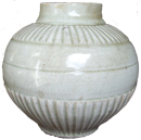 Qingbai Vase with Lined Decoration - Whiteware Porcelain & Stoneware