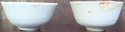 Pure White Teacups with Encrustations  - Chinese Porcelain and Stoneware