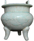 Two-Handled Tripod Censer - Whiteware Porcelain & Stoneware