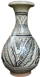 Cizhou Bottle Vase - Whiteware Porcelain & Stoneware