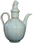 Lobbed Ewer with Cover - Whiteware Porcelain & Stoneware