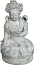 Seated Buddha Figure - Whiteware Porcelain & Stoneware